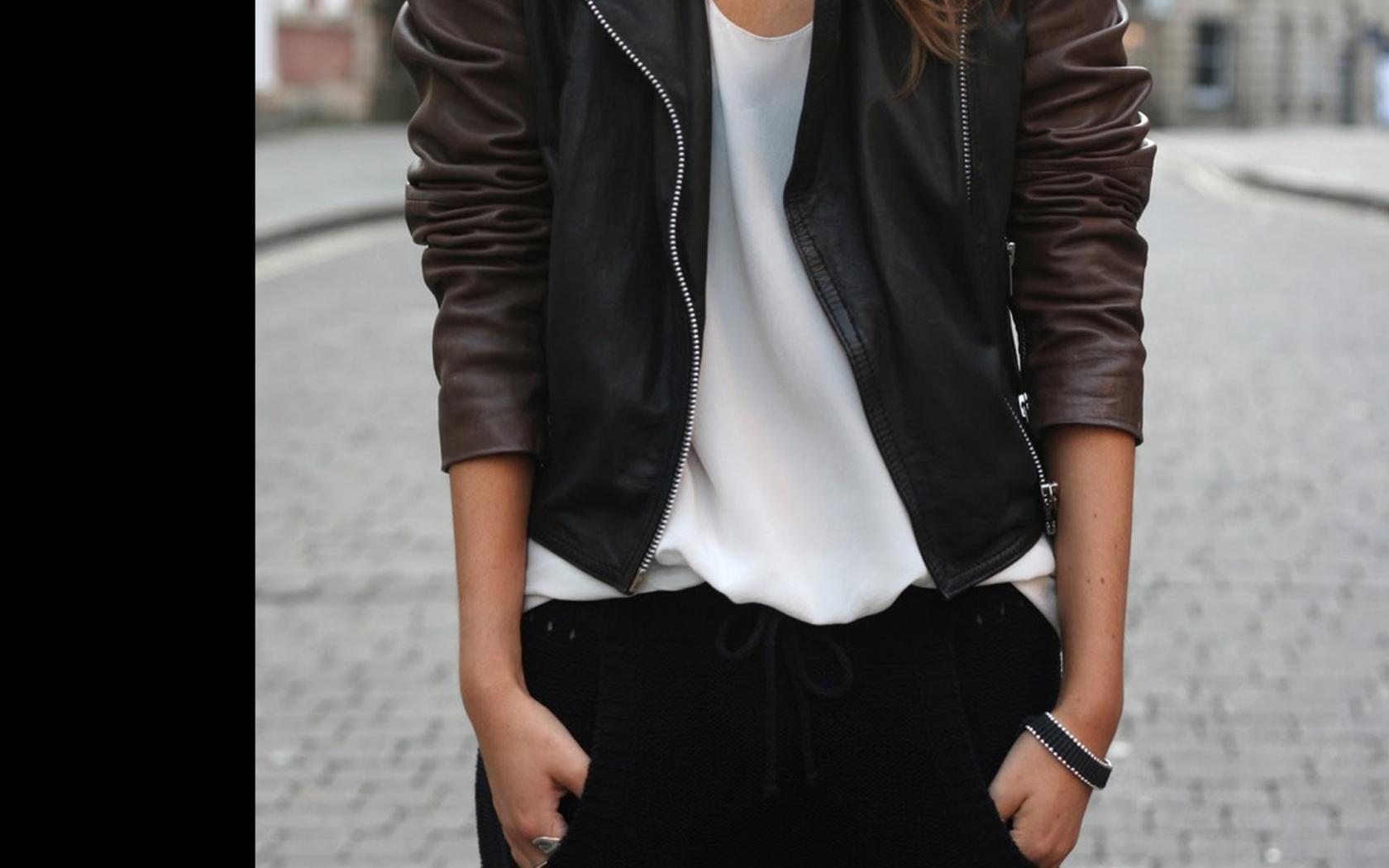 Фото девушек в кожаных куртках 10 фотография